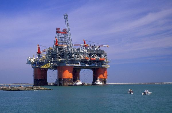 Offshore Workers Oil Rig